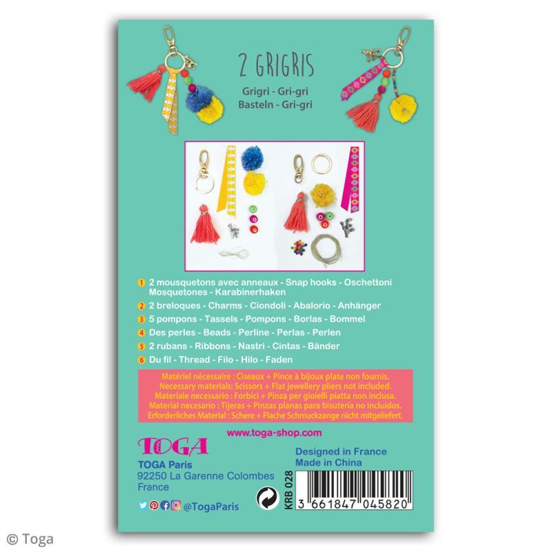 Kit porte-clés grigris Toga - Oh Lamaa - 2 pcs - Photo n°3