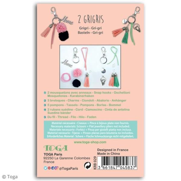 Kit porte-clés grigris Toga - Enjoy the Little Things - 2 pcs - Photo n°3