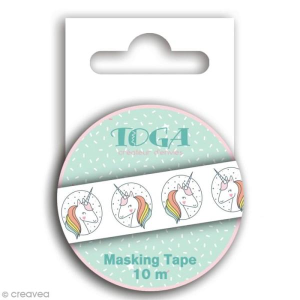 Masking Tape Toga - Licorne - 1,5 cm x 10 m - Photo n°1