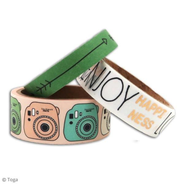 Masking tape Toga - Enjoy the little things - 3 pcs - Photo n°2
