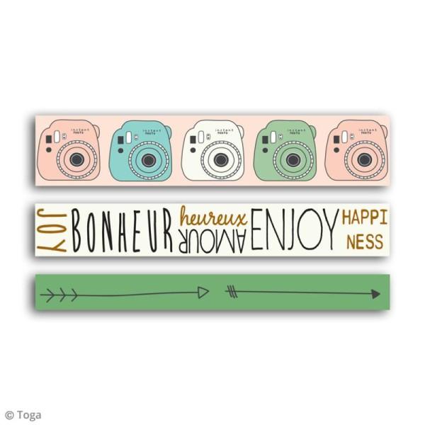 Masking tape Toga - Enjoy the little things - 3 pcs - Photo n°3