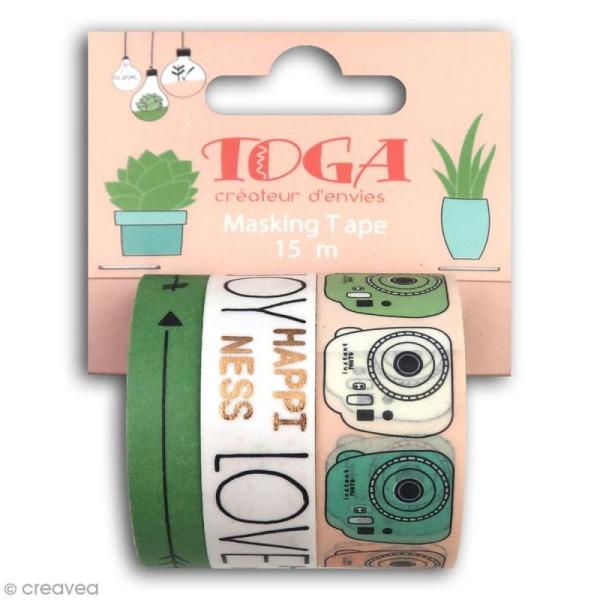 Masking tape Toga - Enjoy the little things - 3 pcs - Photo n°1