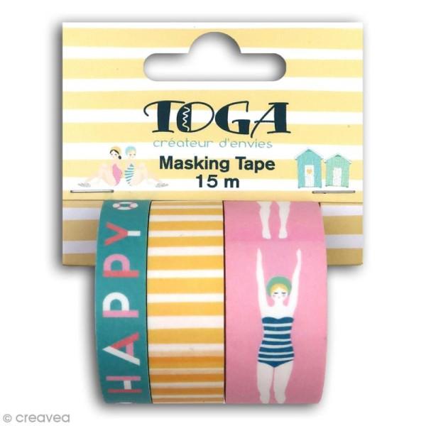Masking tape Toga - Baigneuses - 3 pcs - Photo n°1