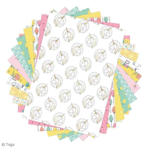 Papier scrapbooking Toga - Color factory - Happy Days - 48 feuilles A5 - Photo n°2