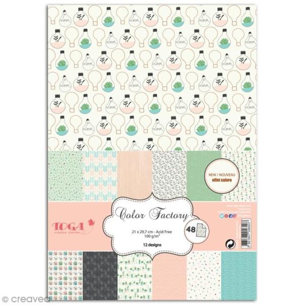 Papier scrapbooking Toga - Color factory - Enjoy the Little Things - 48 feuilles A6 - Photo n°1
