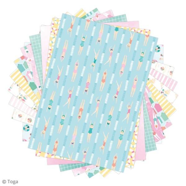 Papier scrapbooking Toga - Color factory - Baigneuses - 48 feuilles A7 - Photo n°2