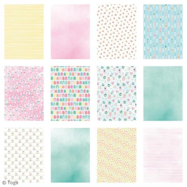 Papier scrapbooking Toga - Color factory - Baigneuses - 48 feuilles A7 - Photo n°3