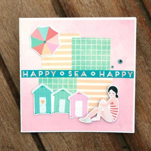 Papier scrapbooking Toga - Color factory - Baigneuses - 48 feuilles A7 - Photo n°4
