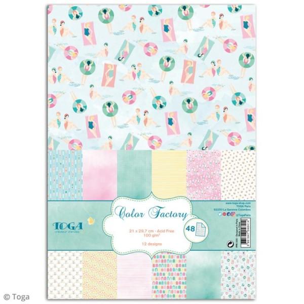 Papier scrapbooking Toga - Color factory - Baigneuses - 48 feuilles A7 - Photo n°1