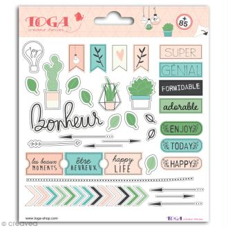 Stickers Toga - Enjoy the Little Things - 2 planches de 15 x 15 cm