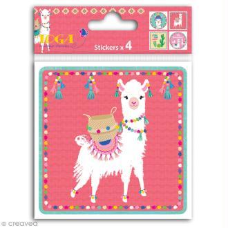 Grands stickers Toga - Oh Lamaa - 10 x 10 cm - 4 pcs