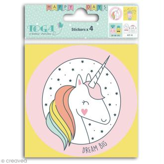 Grands stickers Toga - Happy Days - 10 x 10 cm - 4 pcs