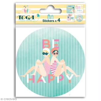 Grands stickers Toga - Baigneuses - 10 x 10 cm - 4 pcs