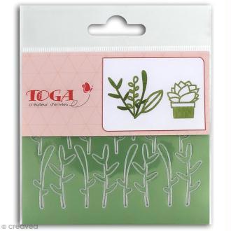 Stickers Fantaisie peel off - Feuillages vert brillants - 2 planches