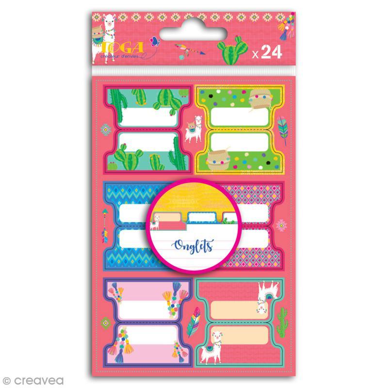 Stickers Onglets Toga - Oh Lamaa - 24 pcs - Photo n°1