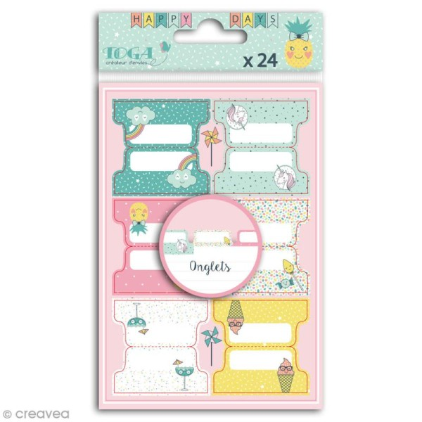 Stickers Onglets Toga - Happy Days - 24 pcs - Photo n°1