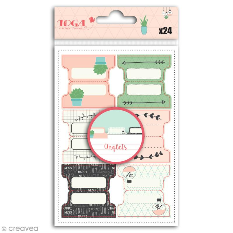 Stickers Onglets Toga - Enjoy the Little Things - 24 pcs - Photo n°1