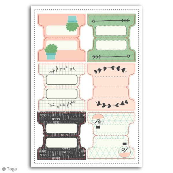 Stickers Onglets Toga - Enjoy the Little Things - 24 pcs - Photo n°2