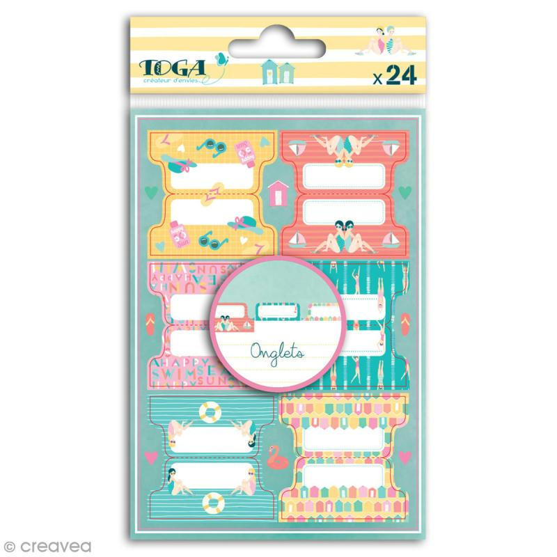 Stickers Onglets Toga - Baigneuses - 24 pcs - Photo n°1