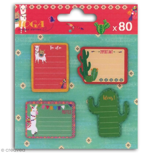 Notes repositionnables Toga - Oh Lamaa - 80 pcs - Photo n°1