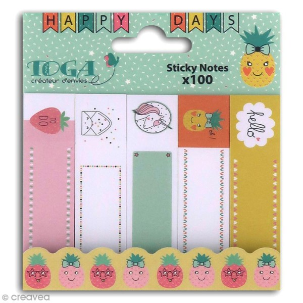 Notes repositionnables Toga - Happy Days - 100 pcs - Photo n°1