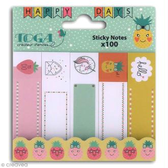 Notes repositionnables Toga - Happy Days - 100 pcs