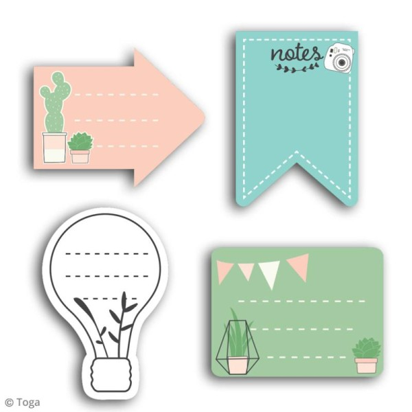 Notes repositionnables Toga - Enjoy the little things - 80 pcs - Photo n°2