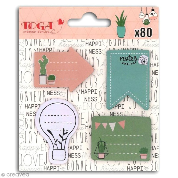 Notes repositionnables Toga - Enjoy the little things - 80 pcs - Photo n°1