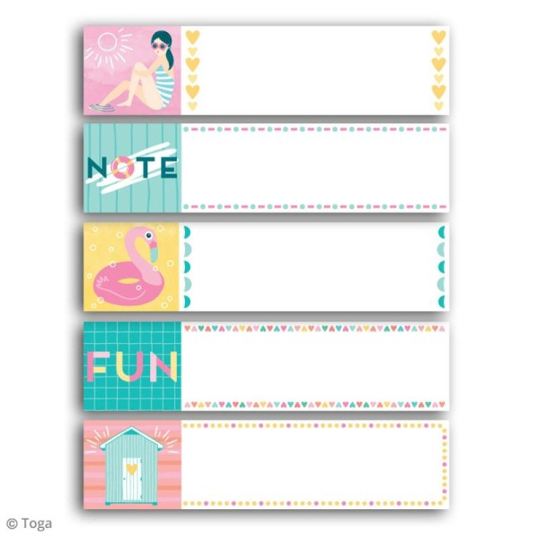 Notes repositionnables Toga - Baigneuses - 100 pcs - Photo n°2
