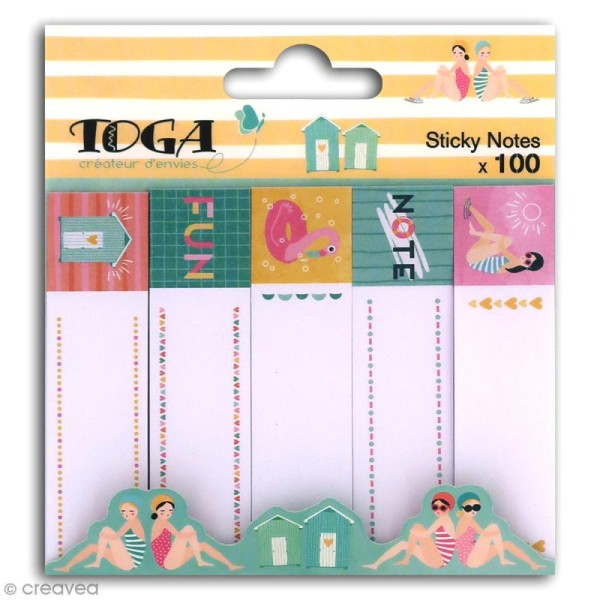 Notes repositionnables Toga - Baigneuses - 100 pcs - Photo n°1