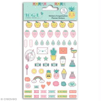 Stickers agenda planner organisation Toga - Happy Days - 500 pcs