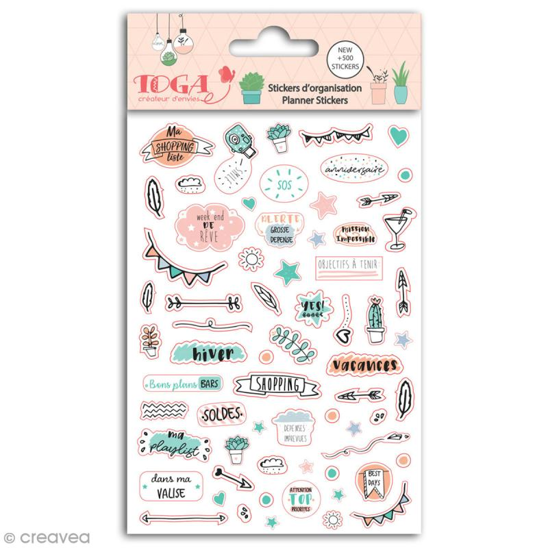 Stickers agenda planner organisation Toga - Enjoy the Little Things - 500 pcs - Photo n°1