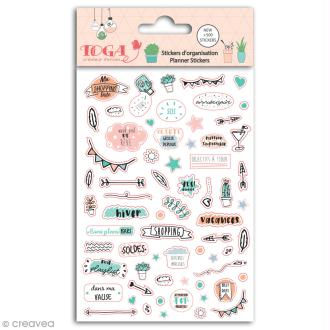 Stickers agenda planner organisation Toga - Enjoy the Little Things - 500 pcs