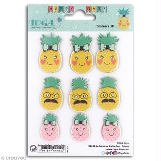 Stickers 3D Toga Happy Days - Ananas - 9 pcs