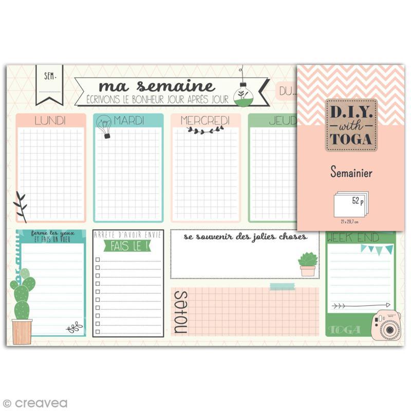 Semainier perpétuel A4 (21 x 29,7 cm) - Enjoy the Little Things - 52 pages - Photo n°1