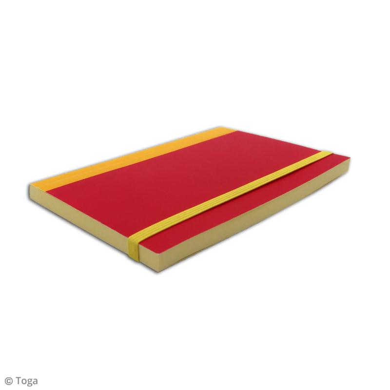 Carnet de poche bicolore - 60 pages - Fuchsia et jaune - 10 x 15 cm - Photo n°5