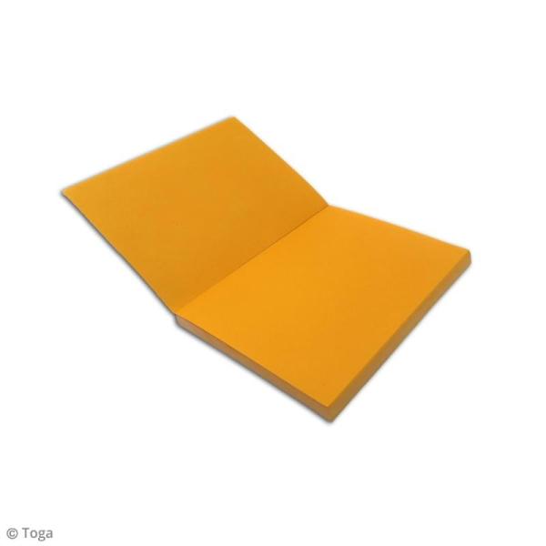 Carnet de poche bicolore - 60 pages - Fuchsia et jaune - 10 x 15 cm - Photo n°3