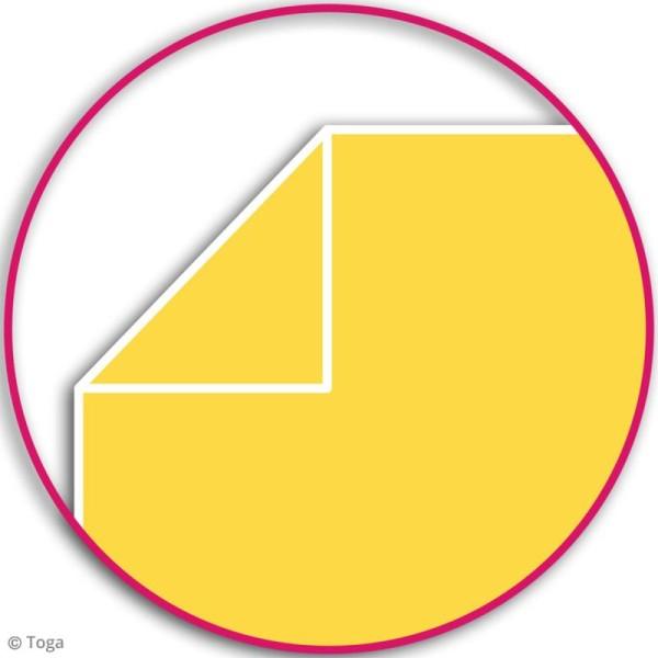 Carnet de poche bicolore - 60 pages - Fuchsia et jaune - 10 x 15 cm - Photo n°4