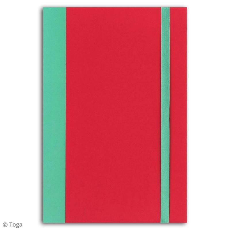 Carnet de poche bicolore - 60 pages - Corail et menthe - 10 x 15 cm - Photo n°2