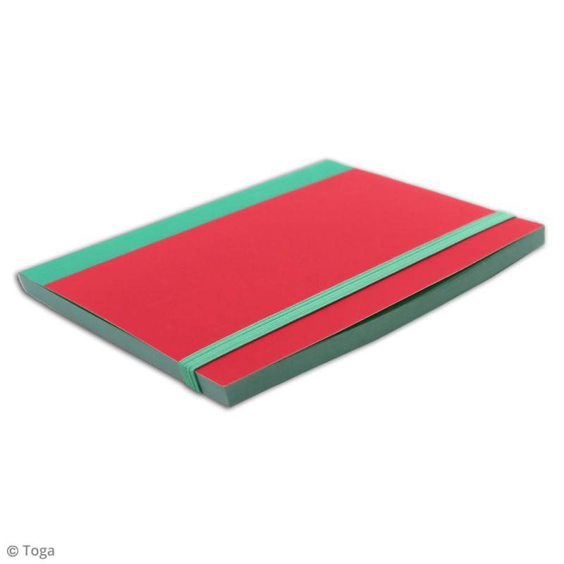 Carnet de poche bicolore - 60 pages - Corail et menthe - 10 x 15 cm - Photo n°4