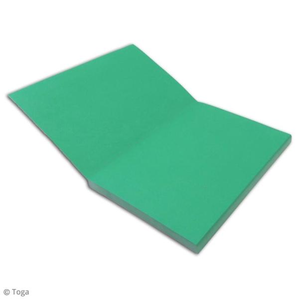 Carnet de poche bicolore - 60 pages - Corail et menthe - 10 x 15 cm - Photo n°3