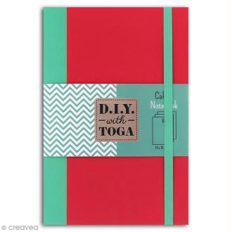 Carnet de poche bicolore - 60 pages - Corail et menthe - 10 x 15 cm