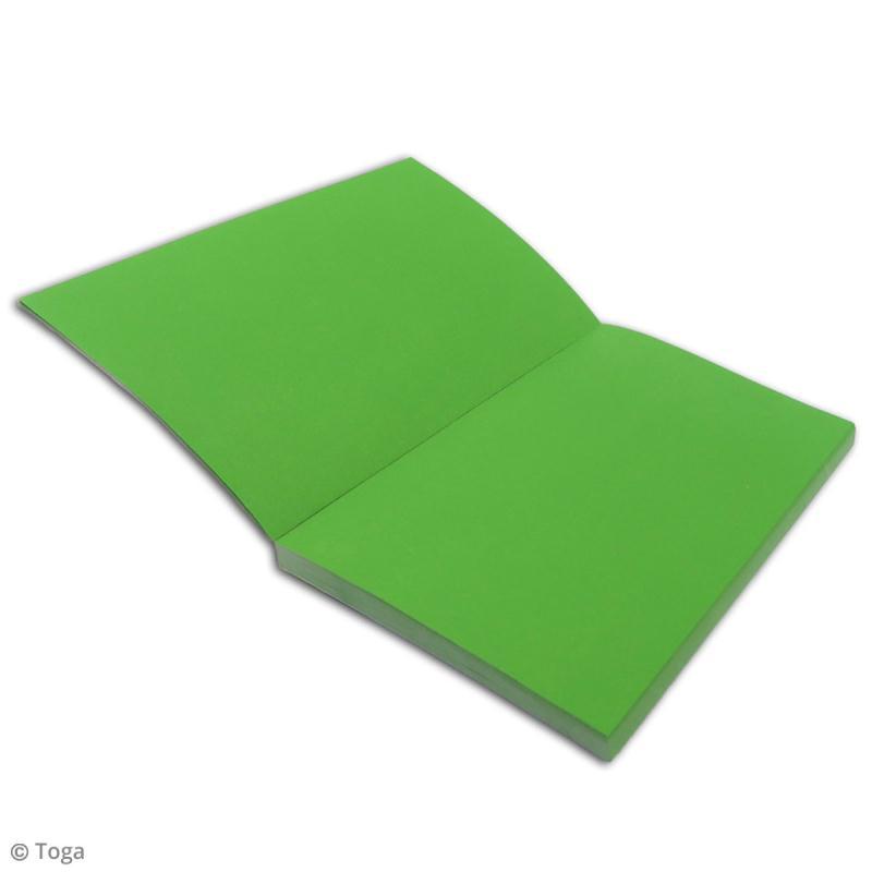 Carnet de poche bicolore - 60 pages - Bleu et vert - 10 x 15 cm - Photo n°3