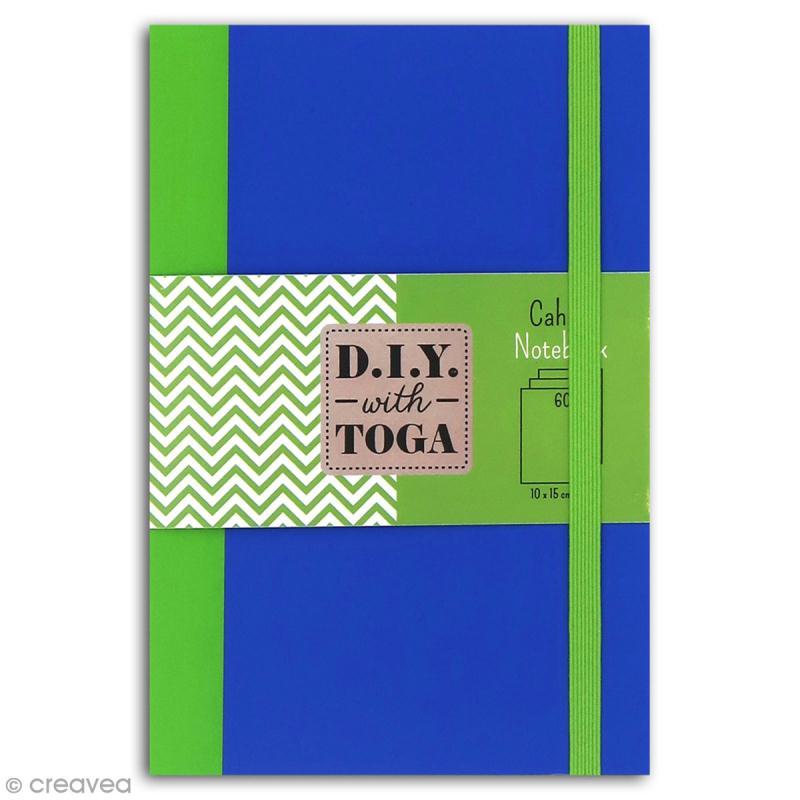 Carnet de poche bicolore - 60 pages - Bleu et vert - 10 x 15 cm - Photo n°1