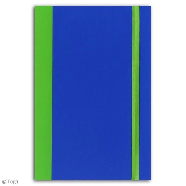 Carnet de poche bicolore - 60 pages - Bleu et vert - 10 x 15 cm - Photo n°2