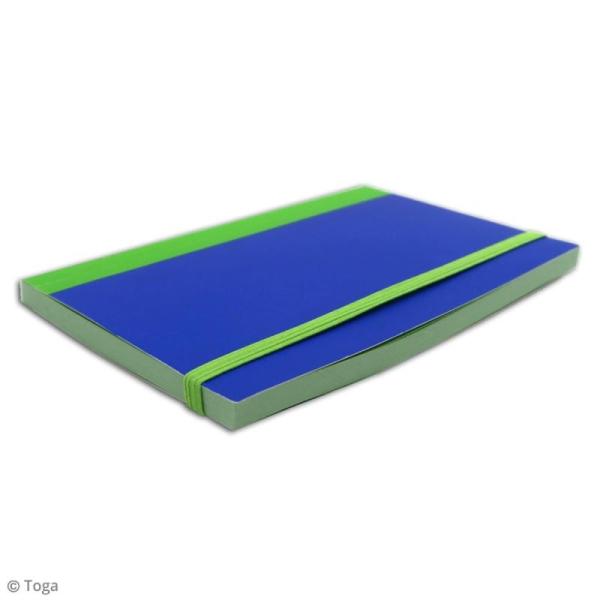 Carnet de poche bicolore - 60 pages - Bleu et vert - 10 x 15 cm - Photo n°4