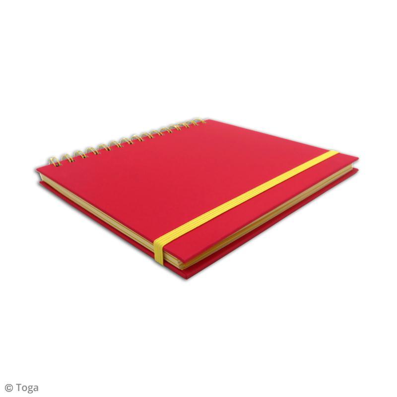 Carnet à spirales bicolore - 60 pages - Fuchsia et jaune - 15 x 21 cm - Photo n°4