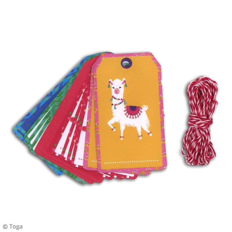 Set étiquettes et ficelle twine Toga - Oh Lamaa - 20 pcs - Photo n°3
