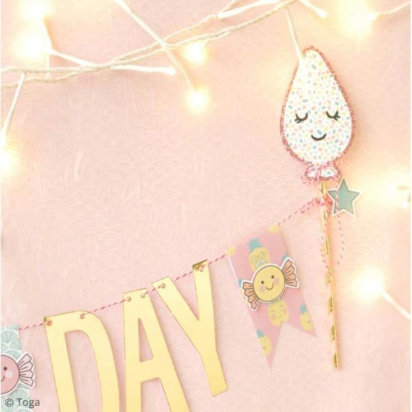 Set étiquettes et ficelle twine Toga - Happy Days - 20 pcs - Photo n°3
