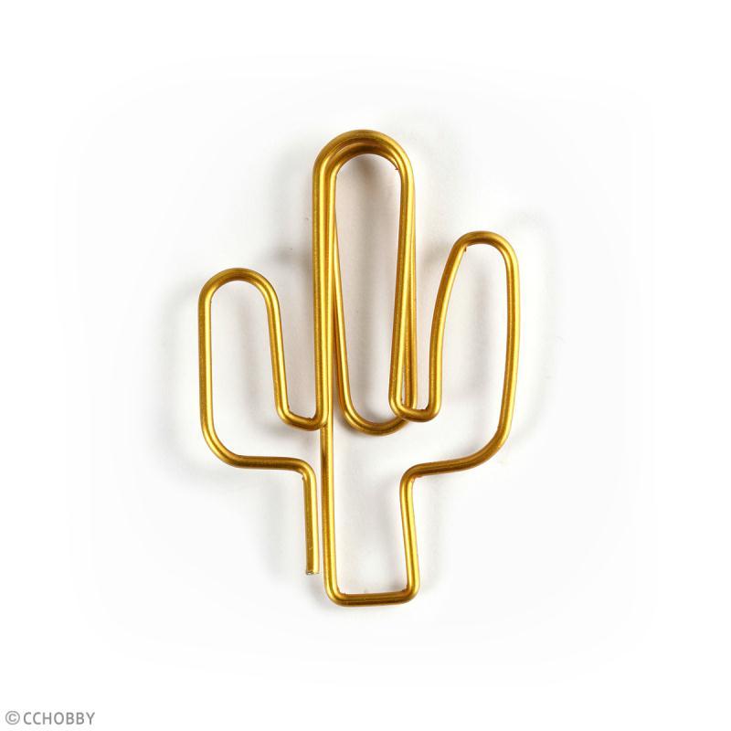 Trombones Cactus Dorés - 3 x 4 cm - 6 pcs - Photo n°2